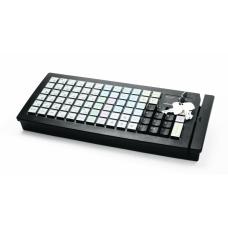 POS клавиатура Posiflex KB-6600U-B черная c ридером магнитных карт на 1-3 дорожки