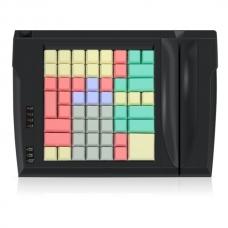 Программируемая клавиатура LPOS-064-M12(USB) черная с ридером магнитных карт на 2 дорожки