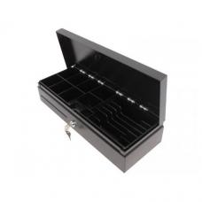 Денежный ящик HPC 460 FT (черный с нерж.крышкой)