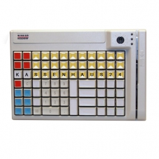 POS клавиатура Wincor Nixdorf TA-85, MSR, ключ, цвет белый, PS/2