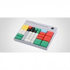 POS клавиатура Preh MSI 60, MSR, без ключа, цвет белый, USB, лазерная гравировка, раскладка SET10